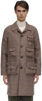 Lc23 Multi-pocket Checked Wool Coat