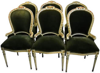 One Kings Lane Vintage Italian Giltwood Dining Chairs - Set of 6