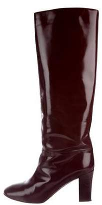 Chloé Patent Leather Knee-High Boots