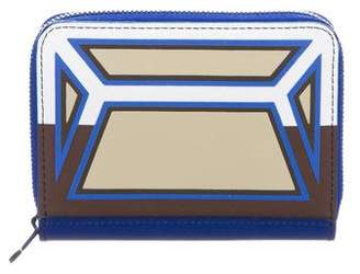 Issey Miyake Rubberized Leather Compact Wallet