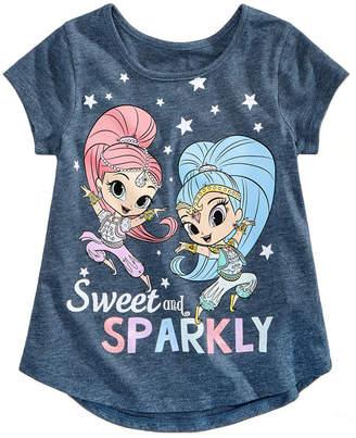 Nickelodeon Little Girls Sweet & Sparkly Cotton T-Shirt