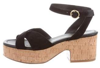 Michael Kors Suede Platform Sandals