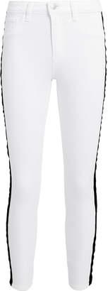 L'Agence Margot Tuxedo High-Rise Ankle Skinny Jeans