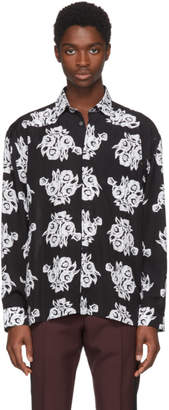 Givenchy Black Archive Flower Print Shirt