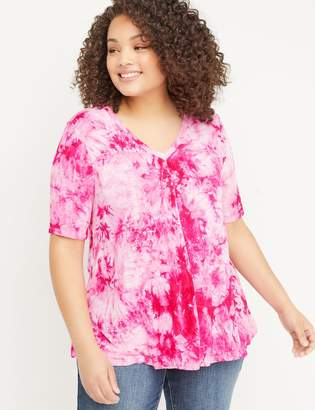 Lane Bryant Tie-Dye Swing Tee with Strappy Back