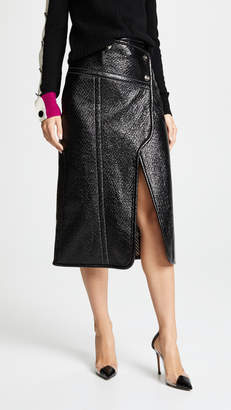 Yigal Azrouel Patent Wrap Skirt
