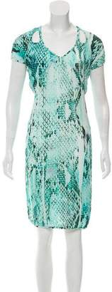 Just Cavalli Printed Cut-Out Dress