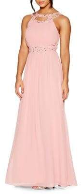 Quiz Chiffon Embellished Maxi Dress
