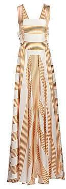 Loro Piana Women's Camille Striped Silk Gown