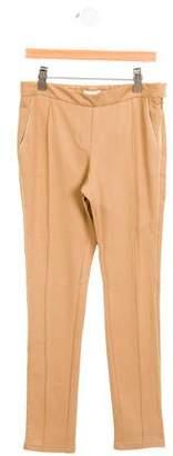 Chloé Girls' Metallic-Accented Straight-Leg Pants