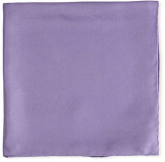 Psycho Bunny Solid Silk Twill Pocket Square, Lavender