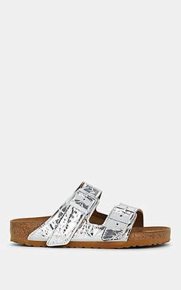 2fb58288902 Rick Owens Women s Arizona Crinkled Leather Double-Buckle Sandals - Silver