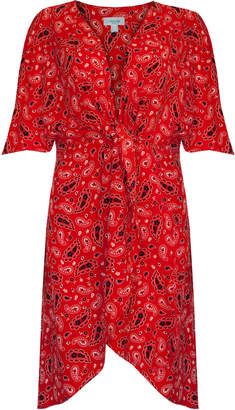 Jovonna London Red Lustre Paisley Midi Dress - UK8 - Red
