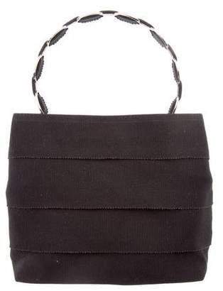 Salvatore Ferragamo Leather-Trimmed Mini Satchel