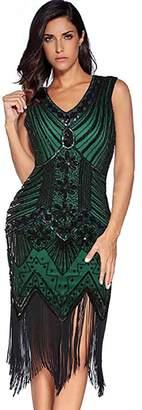 IMAGICSUN Sequin Dress Great Gatsby Dresses - Flapper Cocktail Beaded Dress Evening Dresses for Women