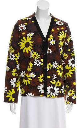 Marni Long Sleeve Printed Cardigan