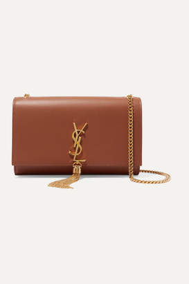 Saint Laurent Monogramme Kate Large Leather Shoulder Bag - Tan