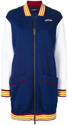 DSQUARED2 long line bomber jacket