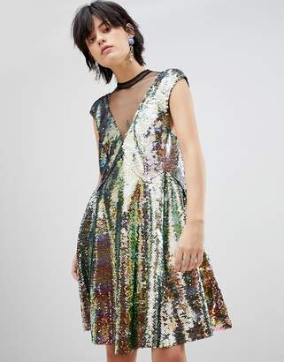 dbc8b170 Free People Dance Till Dawn Ombre Sequined Dress