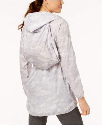 Calvin Klein Camo-Print Packable Hooded Jacket