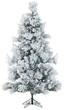 Fraser Hill Farms Flocked Snowy Pine Christmas Tree - 9 Ft.