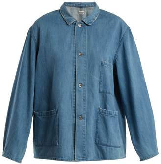 Chimala Oversized patch-pocket denim jacket