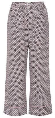 Fendi Printed silk wide-leg pants
