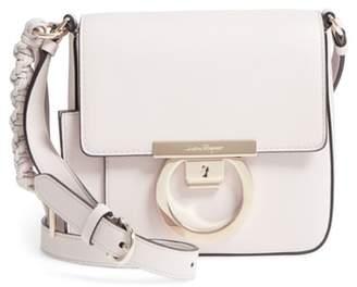 Salvatore Ferragamo Gancio Lock Leather Crossbody Bag