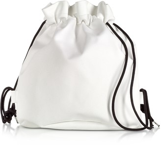 Maison Margiela White Drawstring Backpack w/ Metal Handle