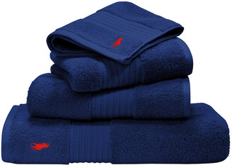 Ralph Lauren Home Player Towel - Navy - Wash Cloth
