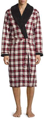 UGG Kalib Plaid Twill Fleece-Lined Robe $165 thestylecure.com