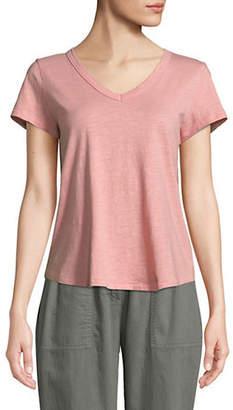 Eileen Fisher Cotton Jersey Slub T-Shirt