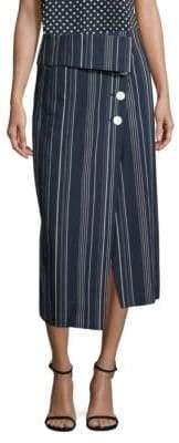 Robert Rodriguez Striped Midi Skirt