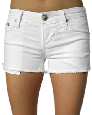 Stitch's - Women's White Cut-Off Shorts