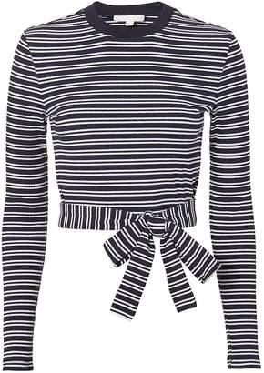 Jonathan Simkhai Striped Tie Waist Top