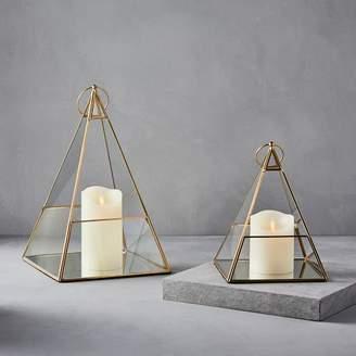 west elm Terrace Pyramid Lanterns - Antique Brass