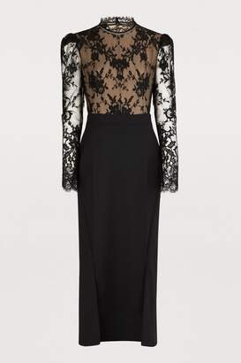 Alexander McQueen Wool backless dress