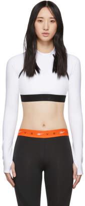 Victoria Beckham Reebok By White Crop Long Sleeve T-Shirt