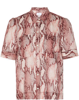 Current/Elliott Bermuda Printed Cotton-Silk Top
