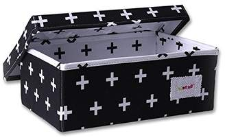 Minene Storage Box (Small Black with White Cross)