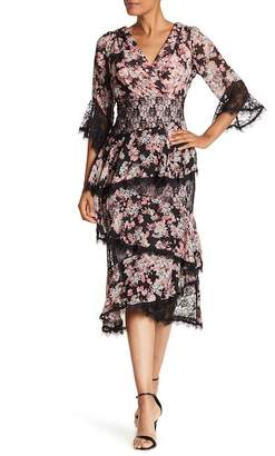 Jax Lace Trim Floral Print Dress