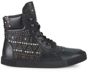 Valentino Studded High-Top Sneakers