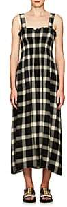 MM6 MAISON MARGIELA Women's Smocked Plaid Gauze Midi-Dress