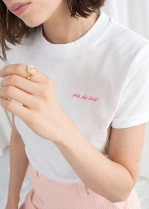 Embroidered Pas Du Tout Tee