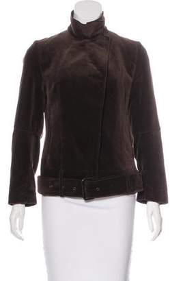 CNC Costume National Velvet Belted Jacket