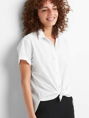 Gap Split-Back Short Sleeve Shirt in Poplin