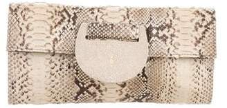 R & Y Augousti R&Y Augousti Snakeskin & Stingray Clutch