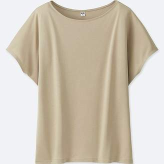 Uniqlo Women's Drape Crewneck Short-sleeve T-Shirt