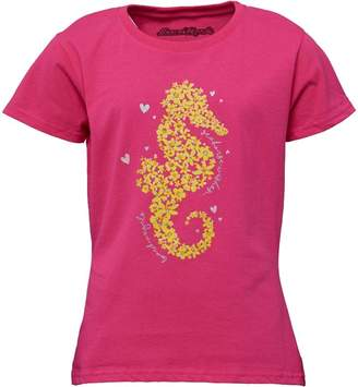 Board Angels Girls Seahorse Print T-Shirt Fuchsia