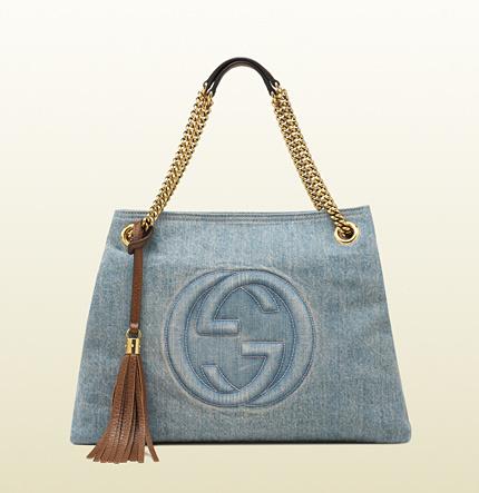 Gucci Soho Denim Shoulder Bag